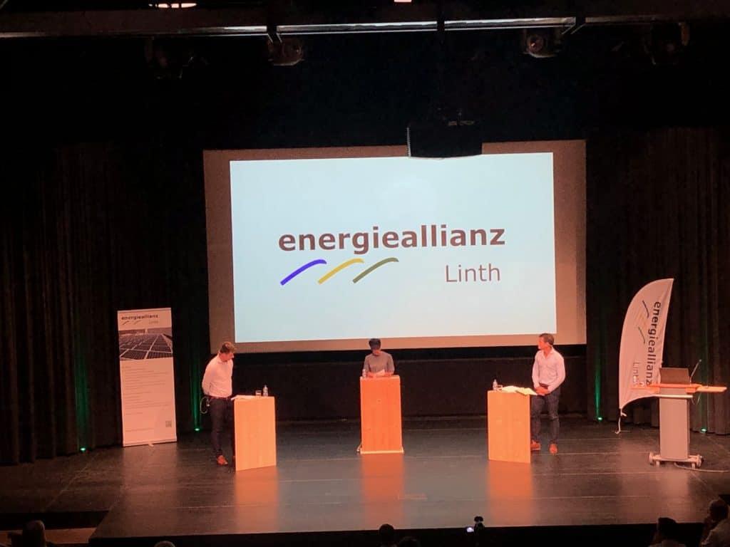 Podiumsdiskussion am Ende der Energie Veranstaltung Glarus
