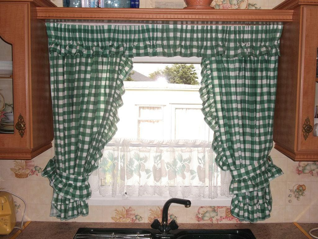 green window treatments