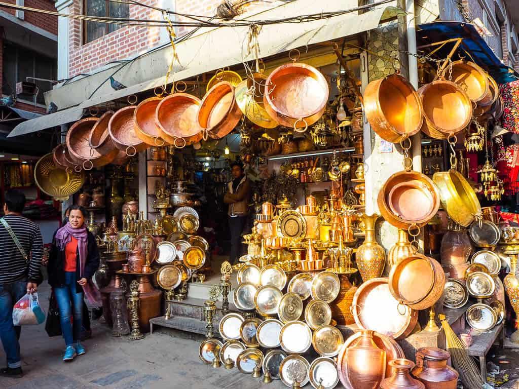 The streets of Kathmandu, Nepal