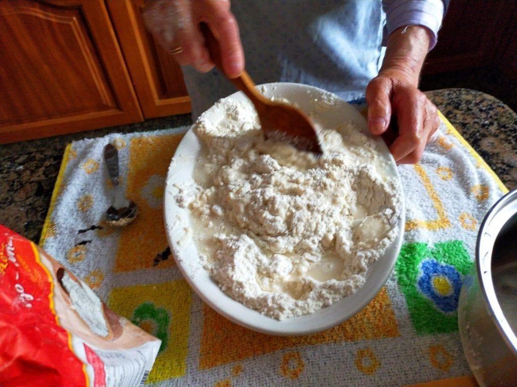 Amasando la harina