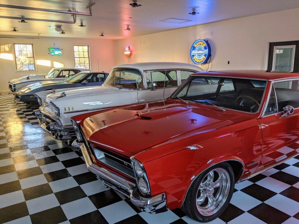 classic car garage showroom