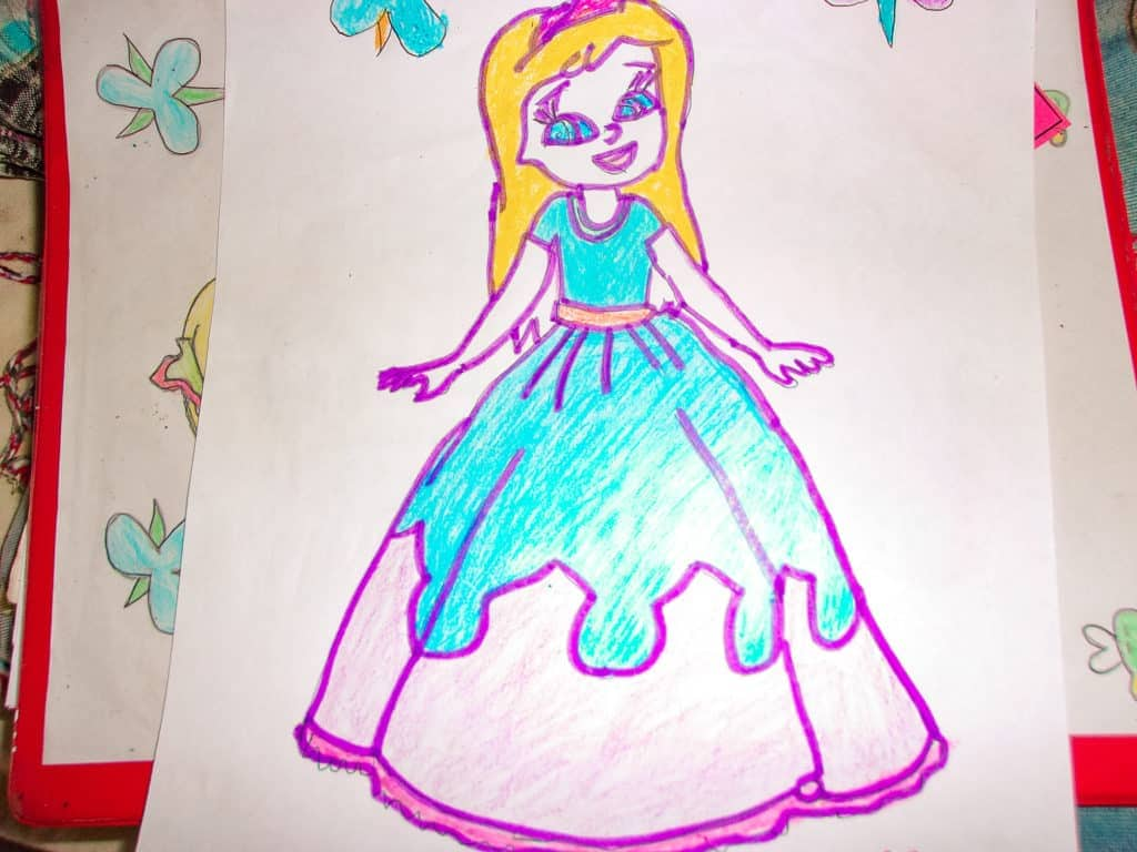 Drawing of a Princess by Aurora