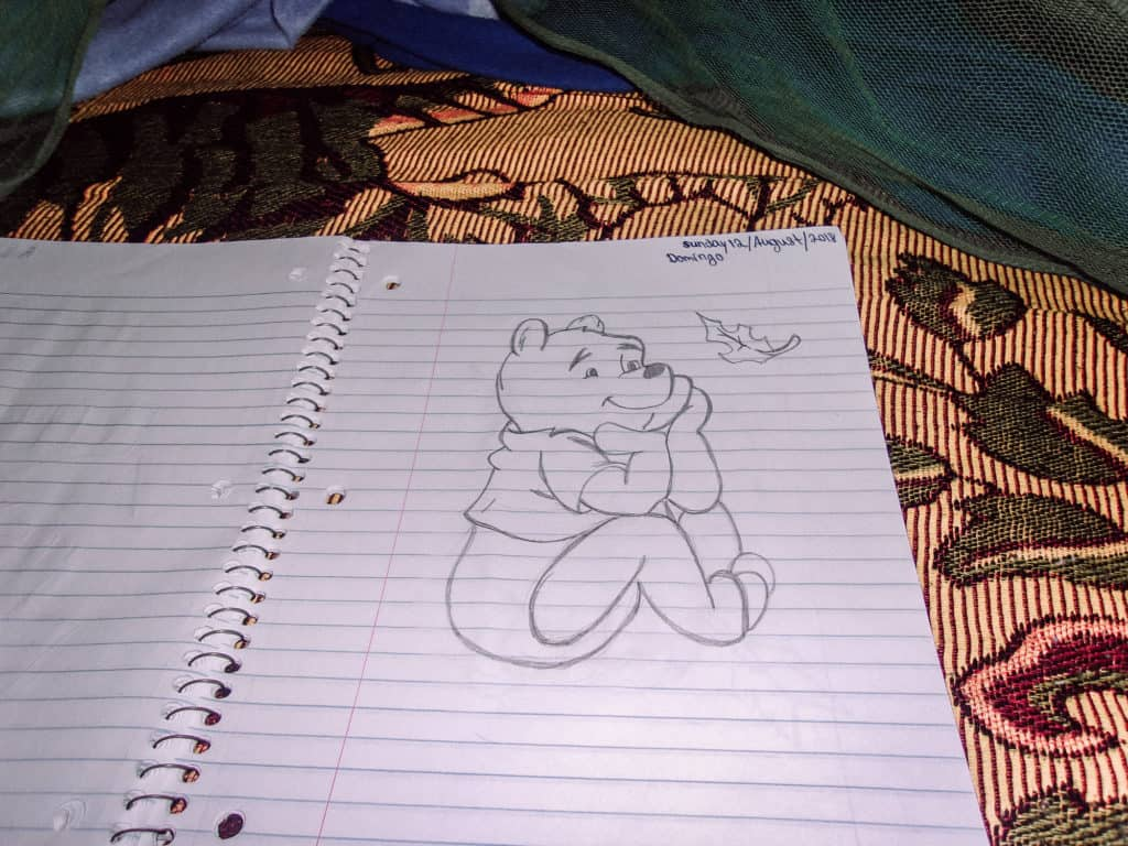 Drawing of Winnie the Pooh by Toreto