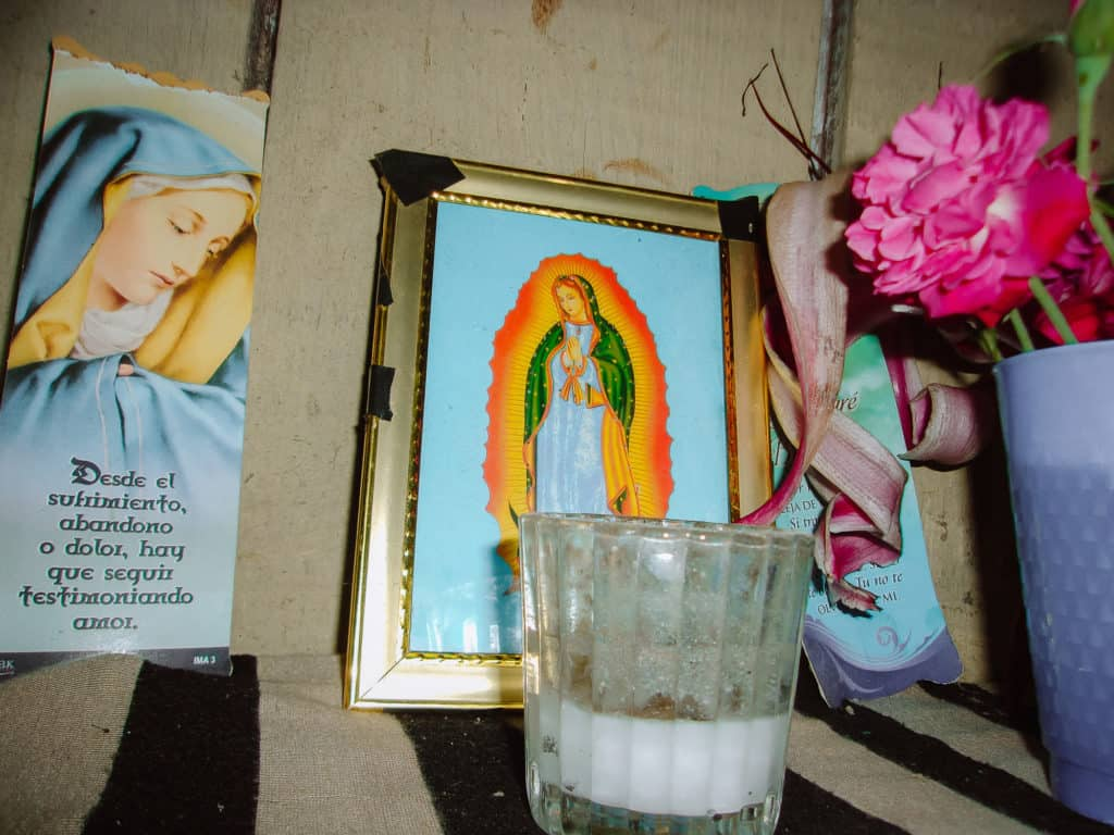 Photo of an image of the Virgin Mary