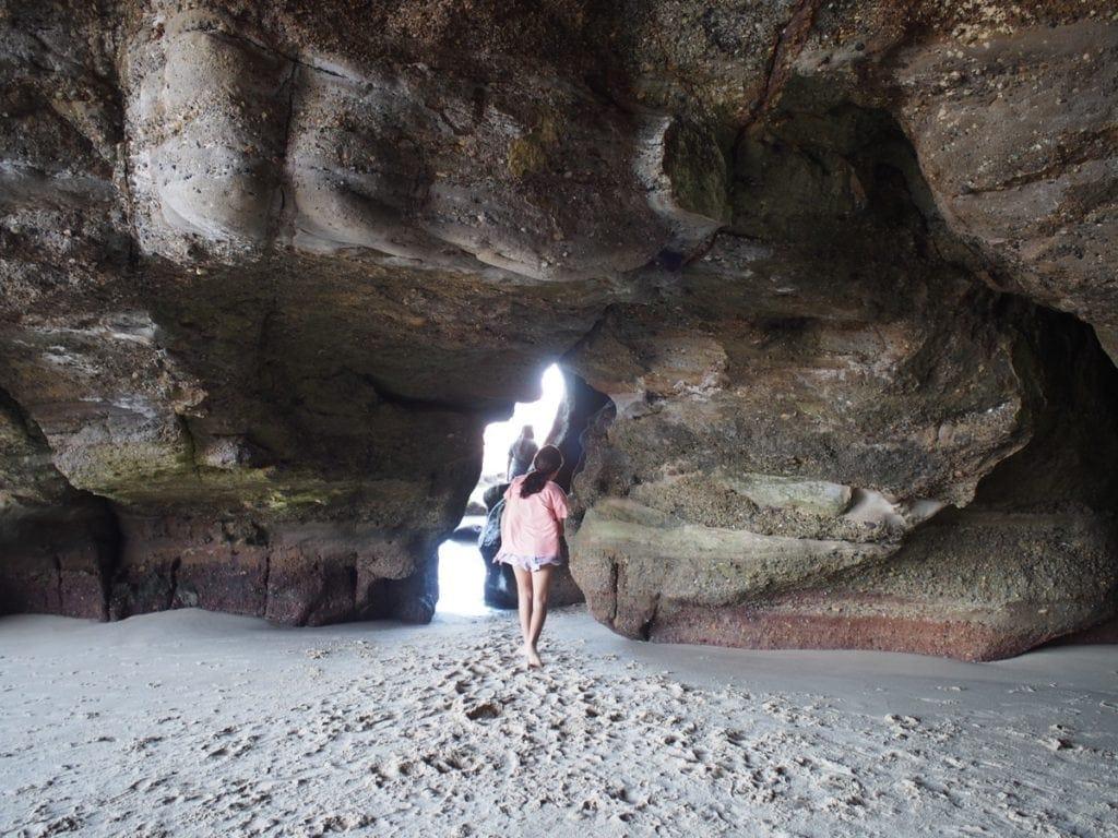 Caves Beach sea caves