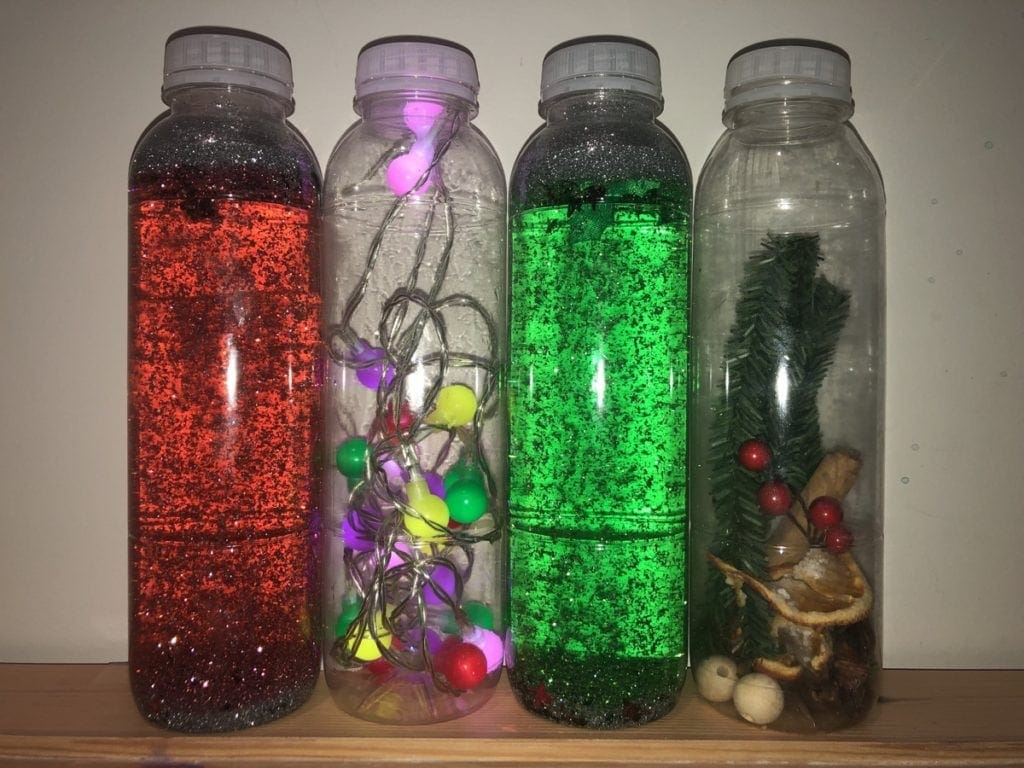 Christmas Sensory Play Bottles