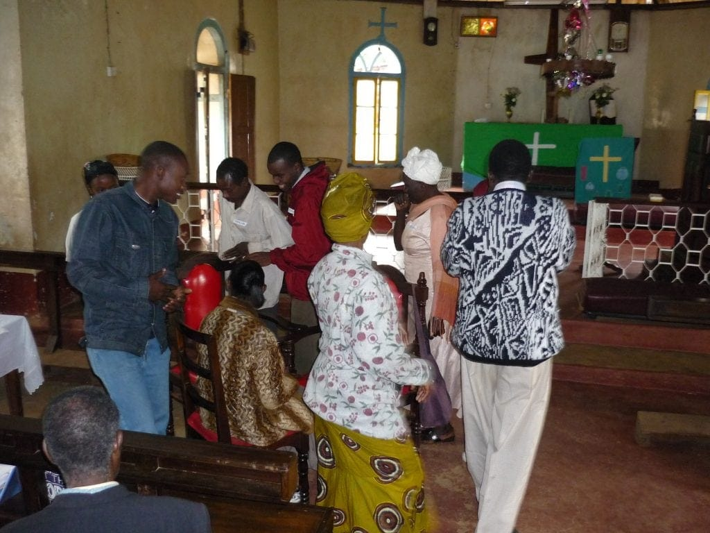 Tanzanian Sunday School teachers practice new methods of engaging kids