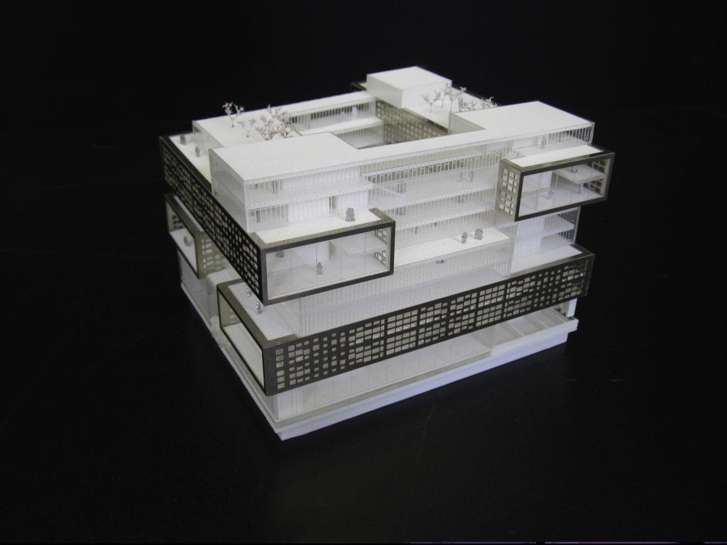 Maquette du bureau Chevalret à l'avenue de France par Mimram architecte au 1/500ème