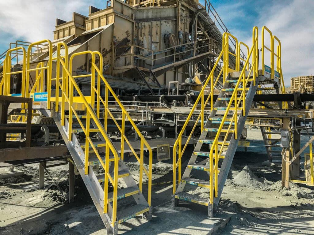 Erectastep dual Crossover stairs Cement Conveyor Belt
