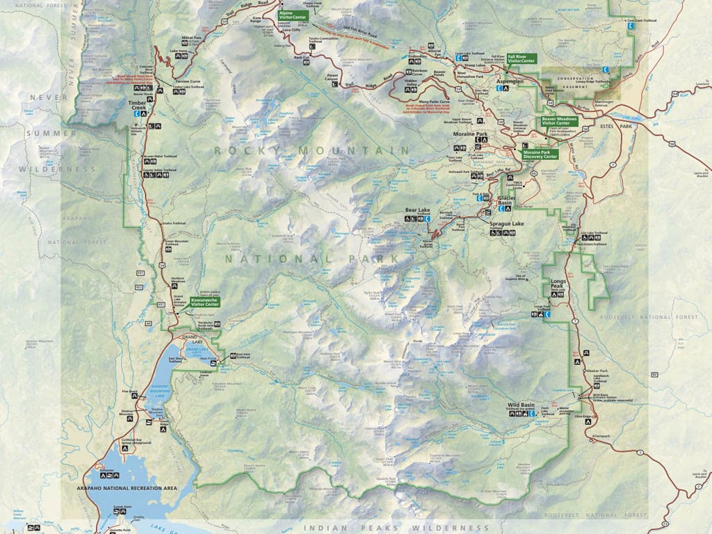 rocky mountain national park maprocky mountain national park map