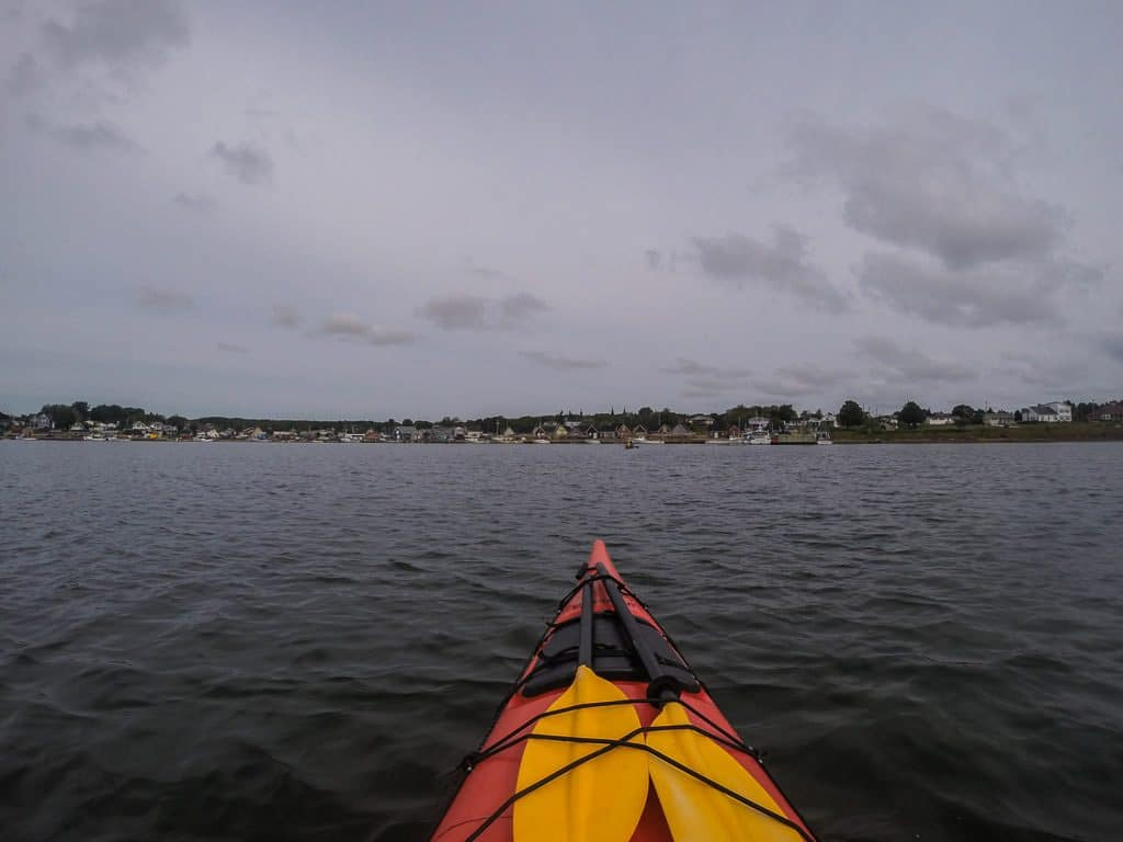 Looking towards the harbour during our kayaking trip on PEI