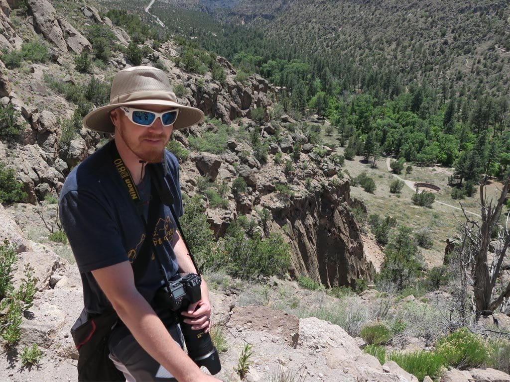 Buddy taking a break at Bandelier National Monument