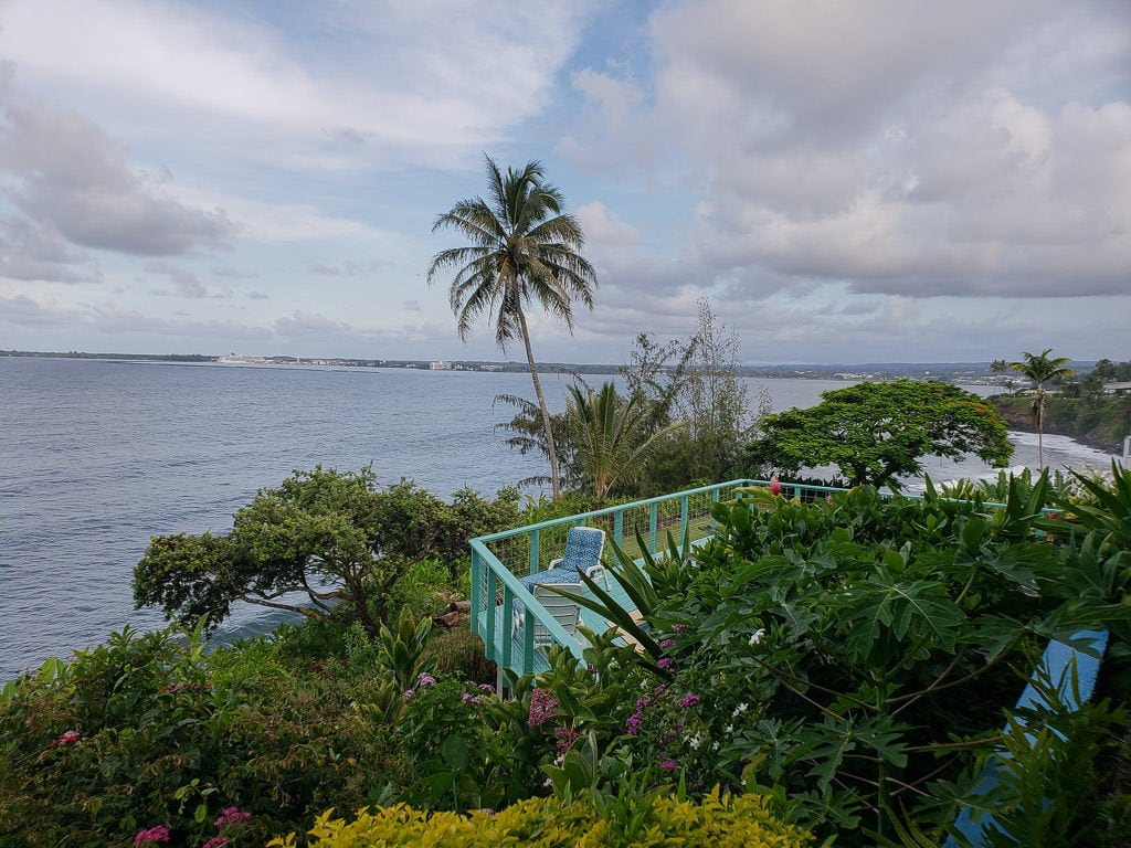 Hale Kai Hawaii Bed and Breakfast airbnb in hilo view