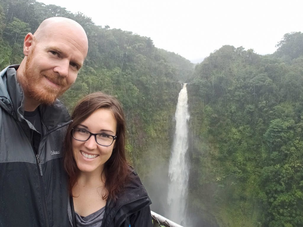 selfie in the rain at akaka falls near hilo