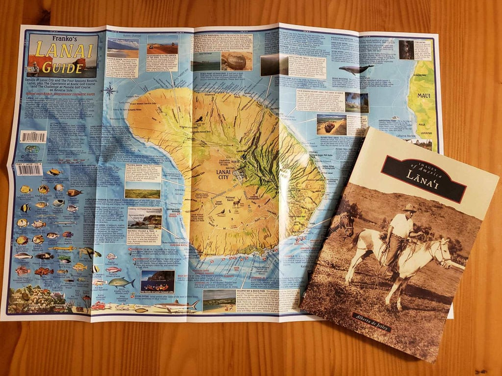 lanai map and history book of lanai