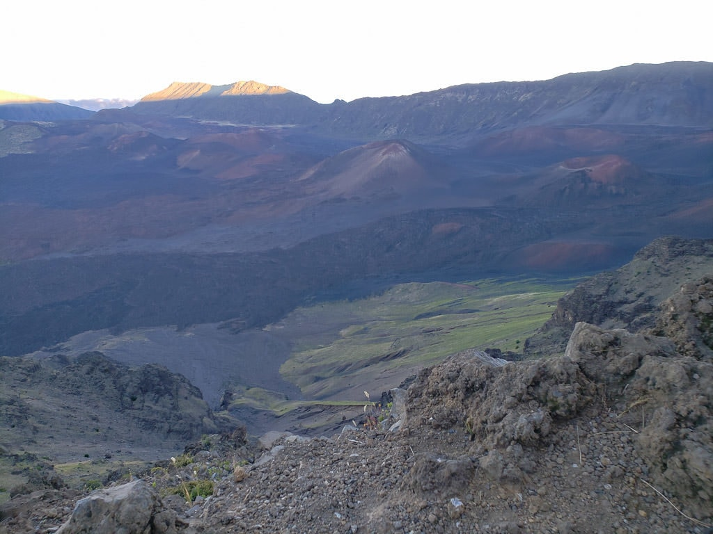 The large crater in Haleakalā National Park on the Halemau'u Trail