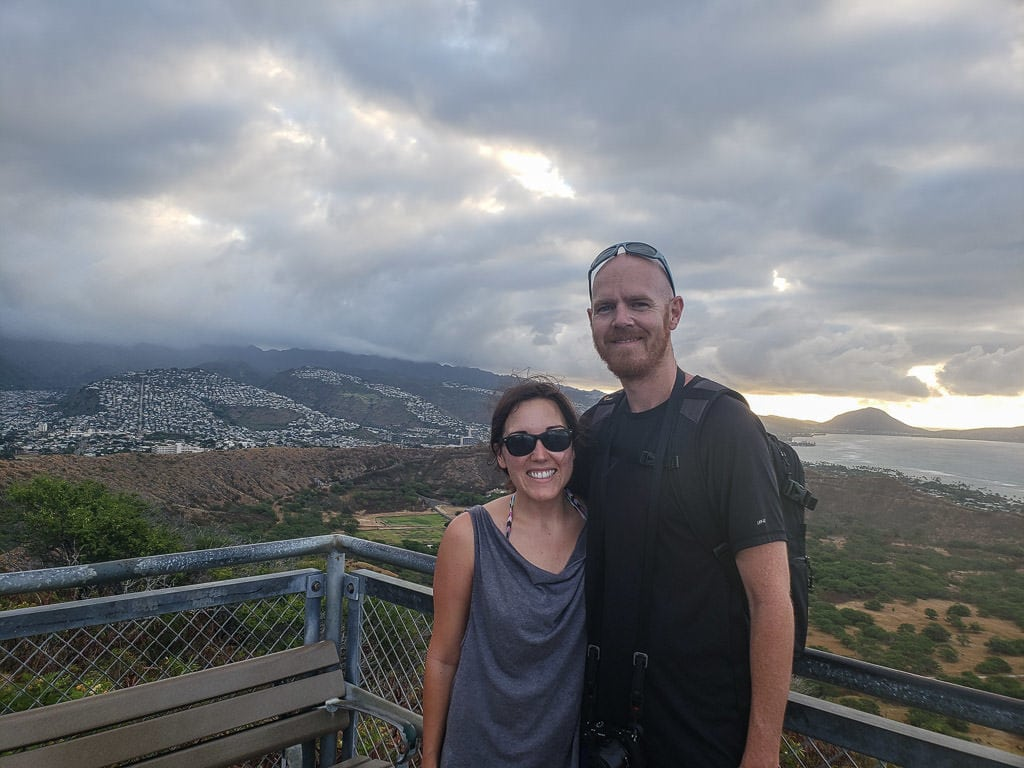 selfie at Diamond Head State Monument in oahu