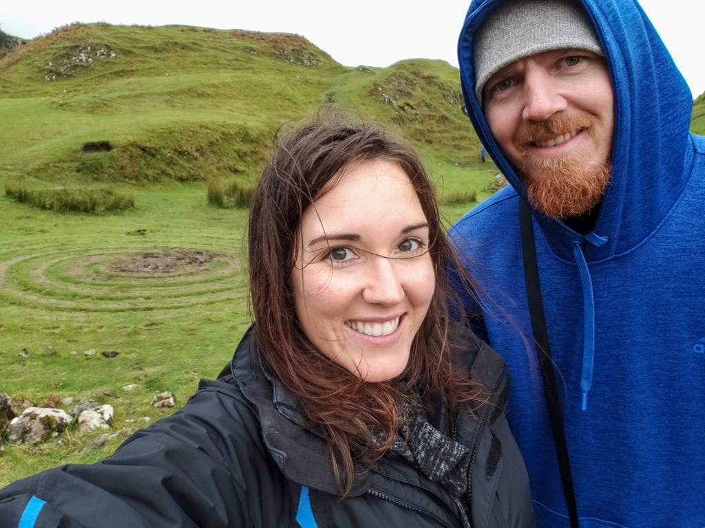 Brooke and Buddy with huge smiles on their face at Fairy Glen