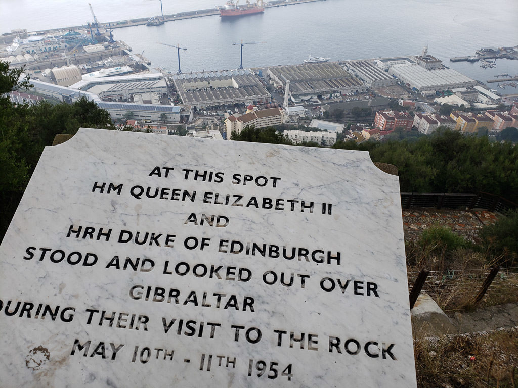 Queen's Lookout point where queen elizabeth visited in gibraltar