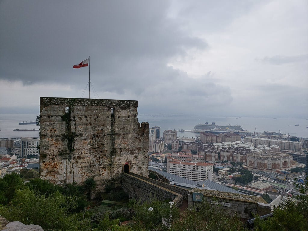 Moorish Castle on the rock of gibraltar
