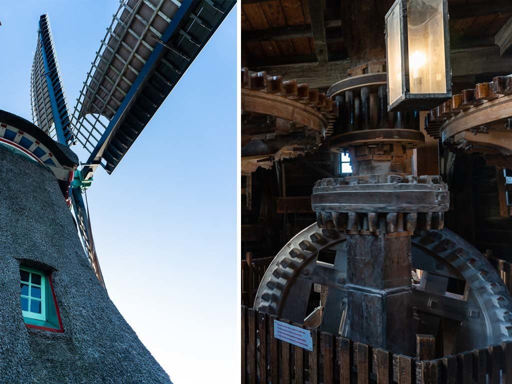 inner workings of windmill at zaanse shans on day trip from amsterdam to holland's countryside