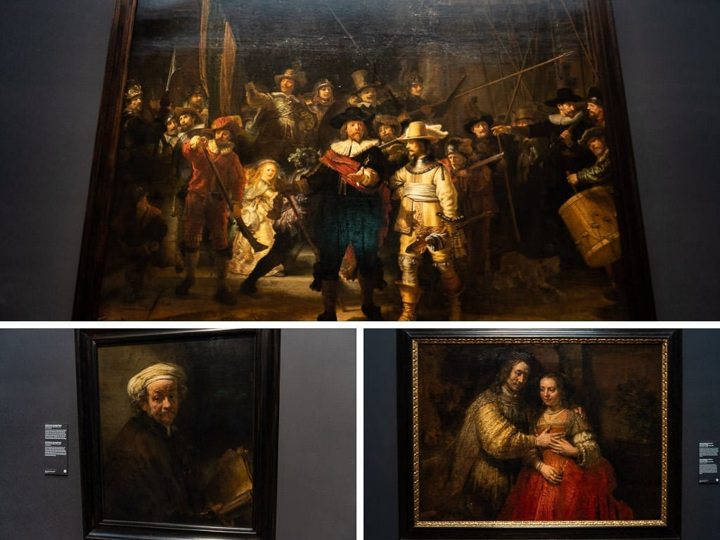 rembrandt art at Rijksmuseum in amsterdam