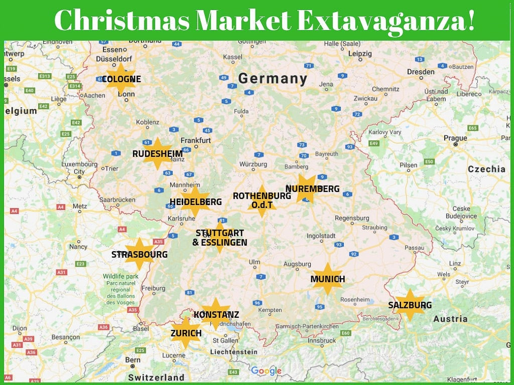 map of christmas markets in germany