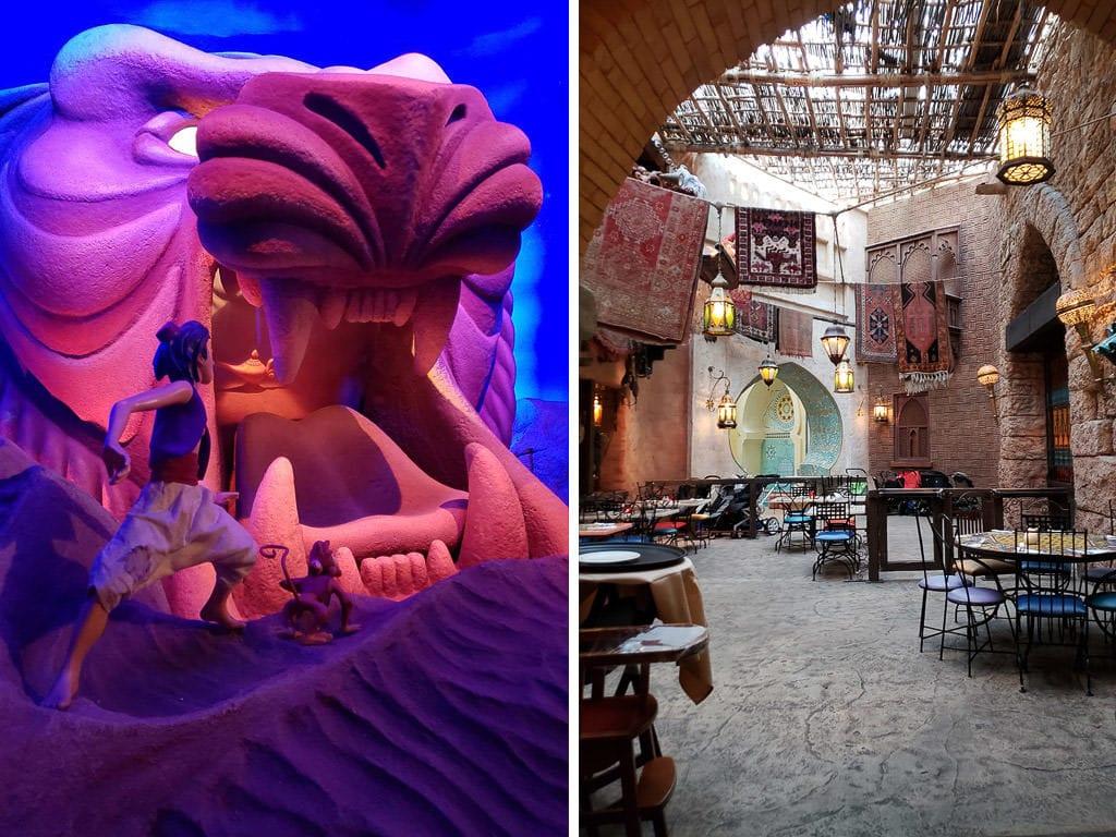 Aladdin area of disneyland paris