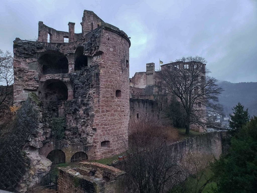 heidelberg castle ruins in germany