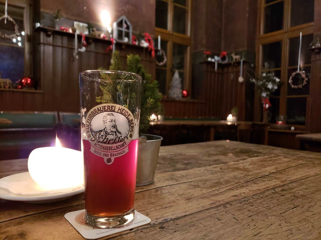 sampling the beer at Heidelberger Kulturbrauerei in heidelberg germany