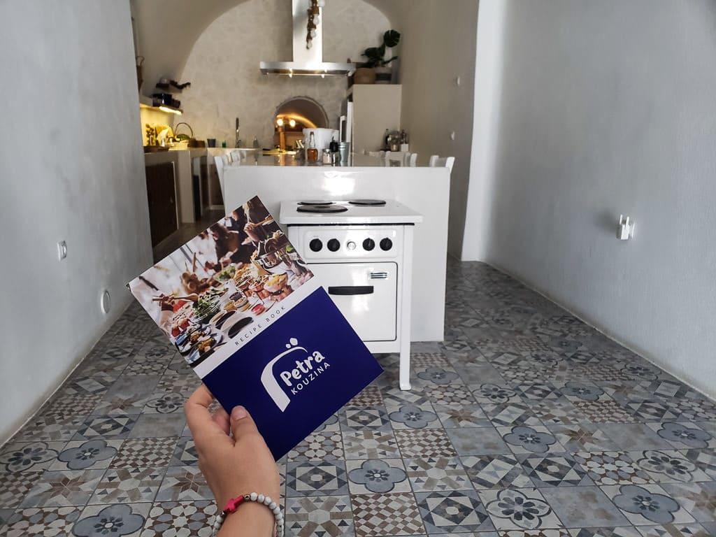 recipe book- petra kouzina greek cooking class santorini