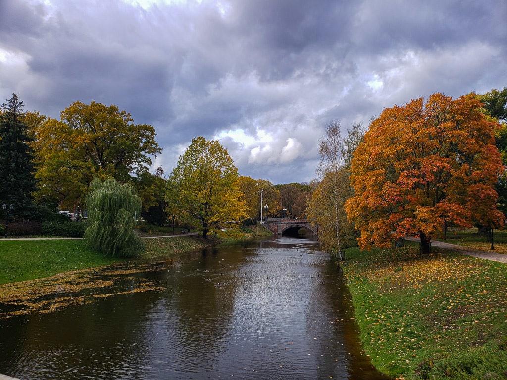 autumn in riga latvia