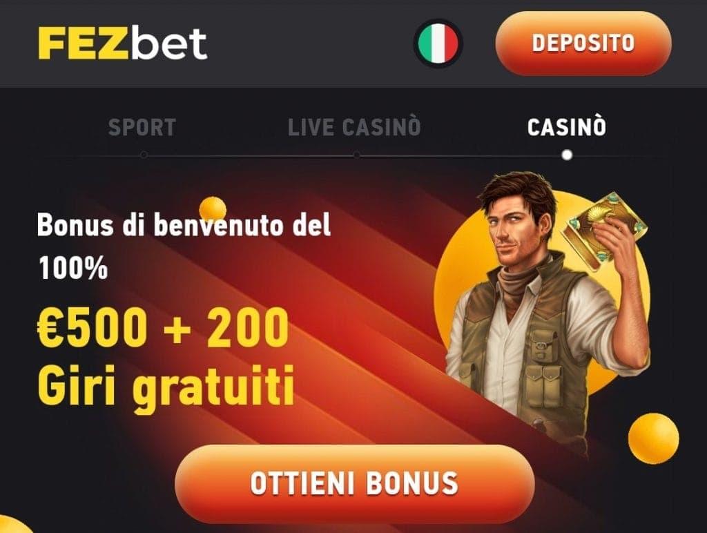 Fezbet Casino lobby
