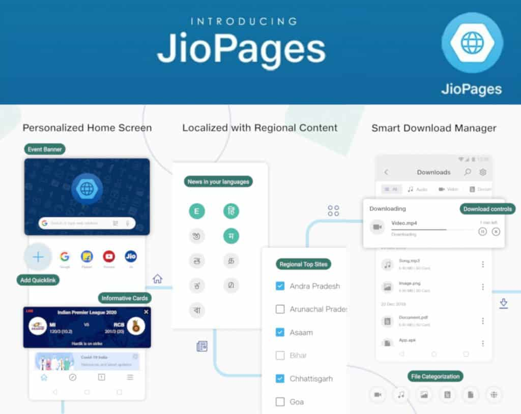 JioPages browser