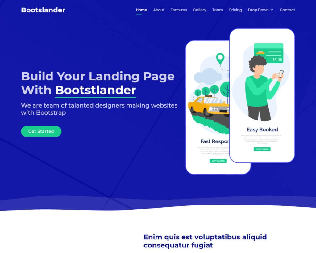 Bootstrap Landing Page Template