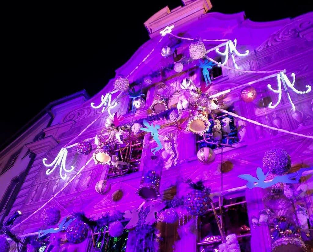 christmas decor in strasbourg france