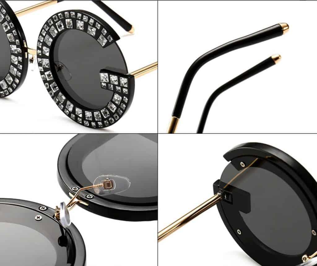 fake sunglasses replica shades aviator glasses DG Dolce Gabbana knockoff Rhinestone Summer Details 5