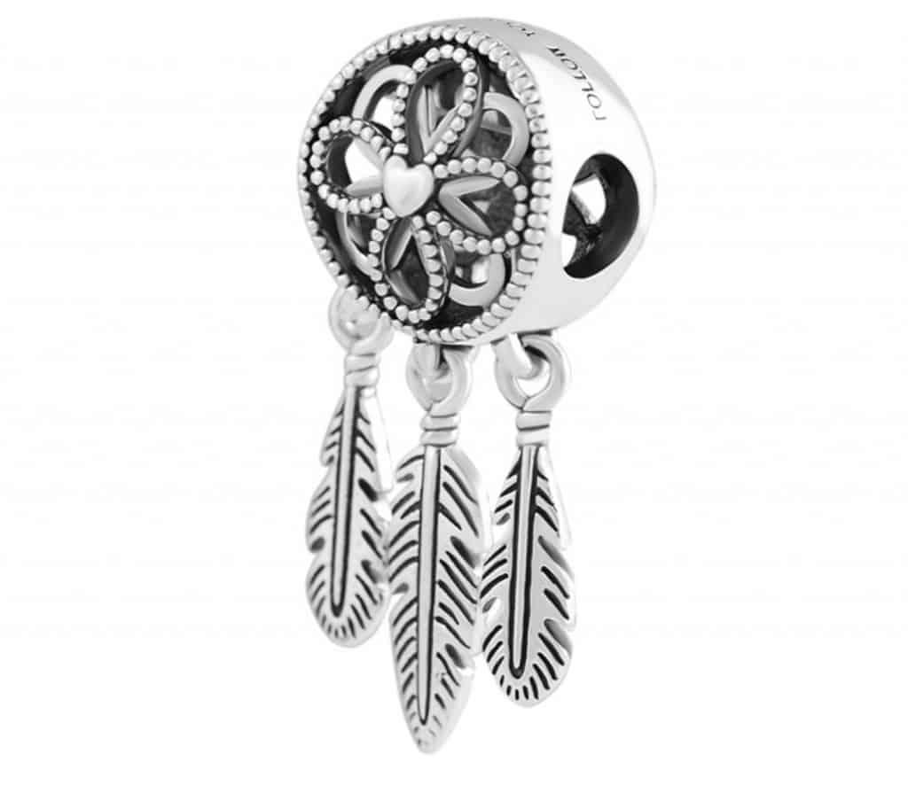 Pandora Charm Replica Bracelet Pendant Jewelry 925 Sterling Silver AliExpress Spritual Dream catcher Follow your dreams
