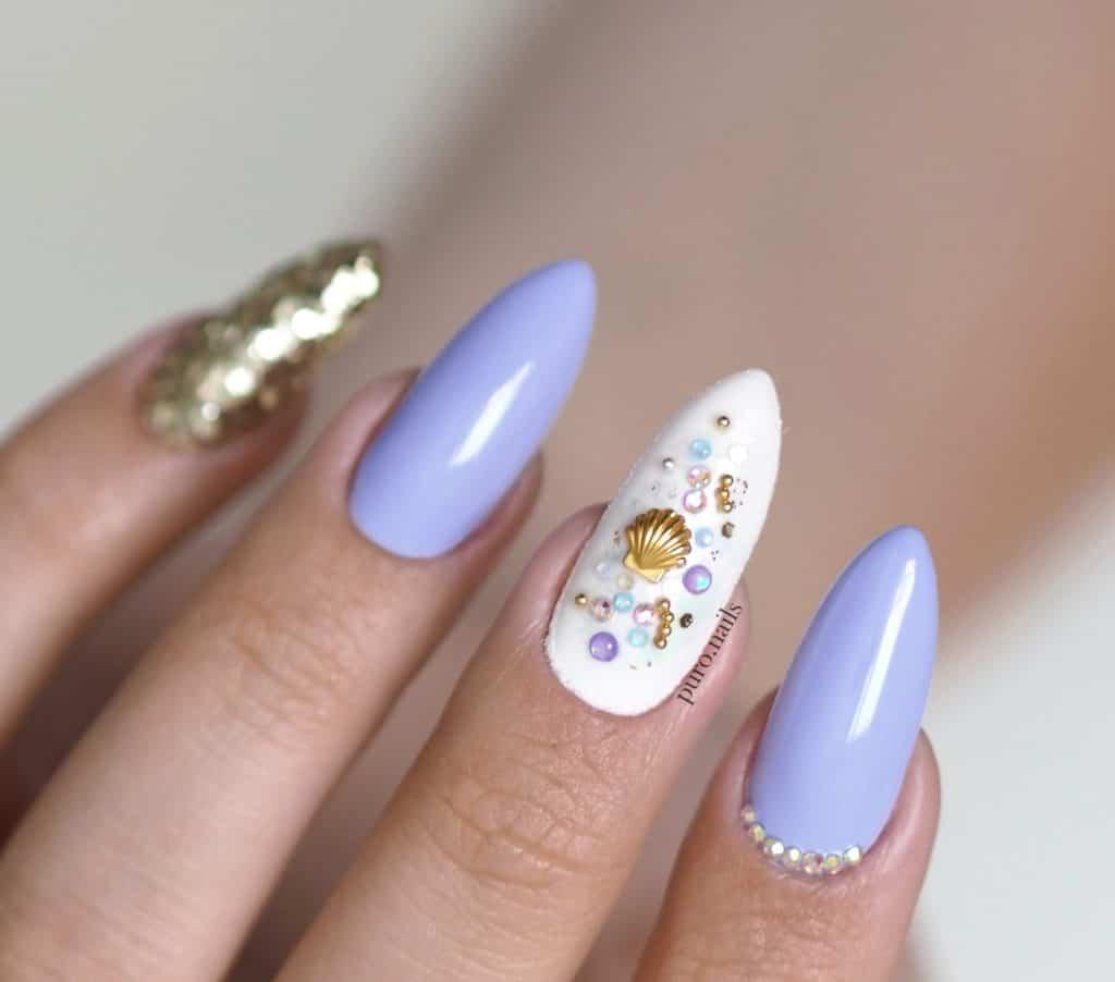 bogate zdobienia na paznokciach w lato