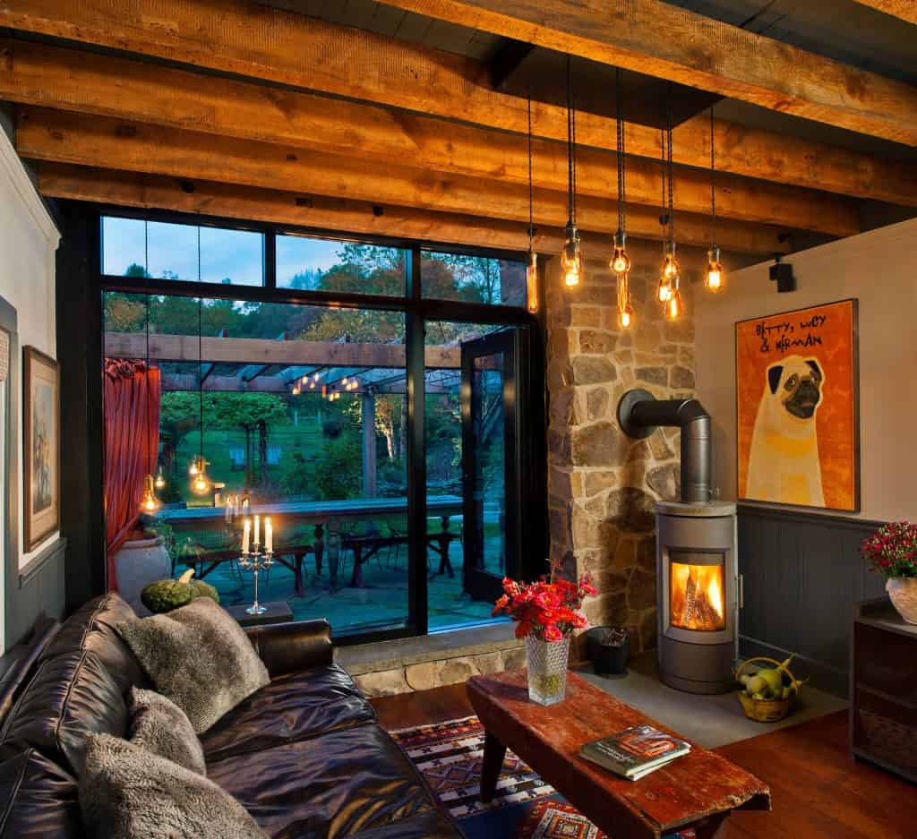 Warm Rustic Living Room Idea with a hint of Modern Touches
