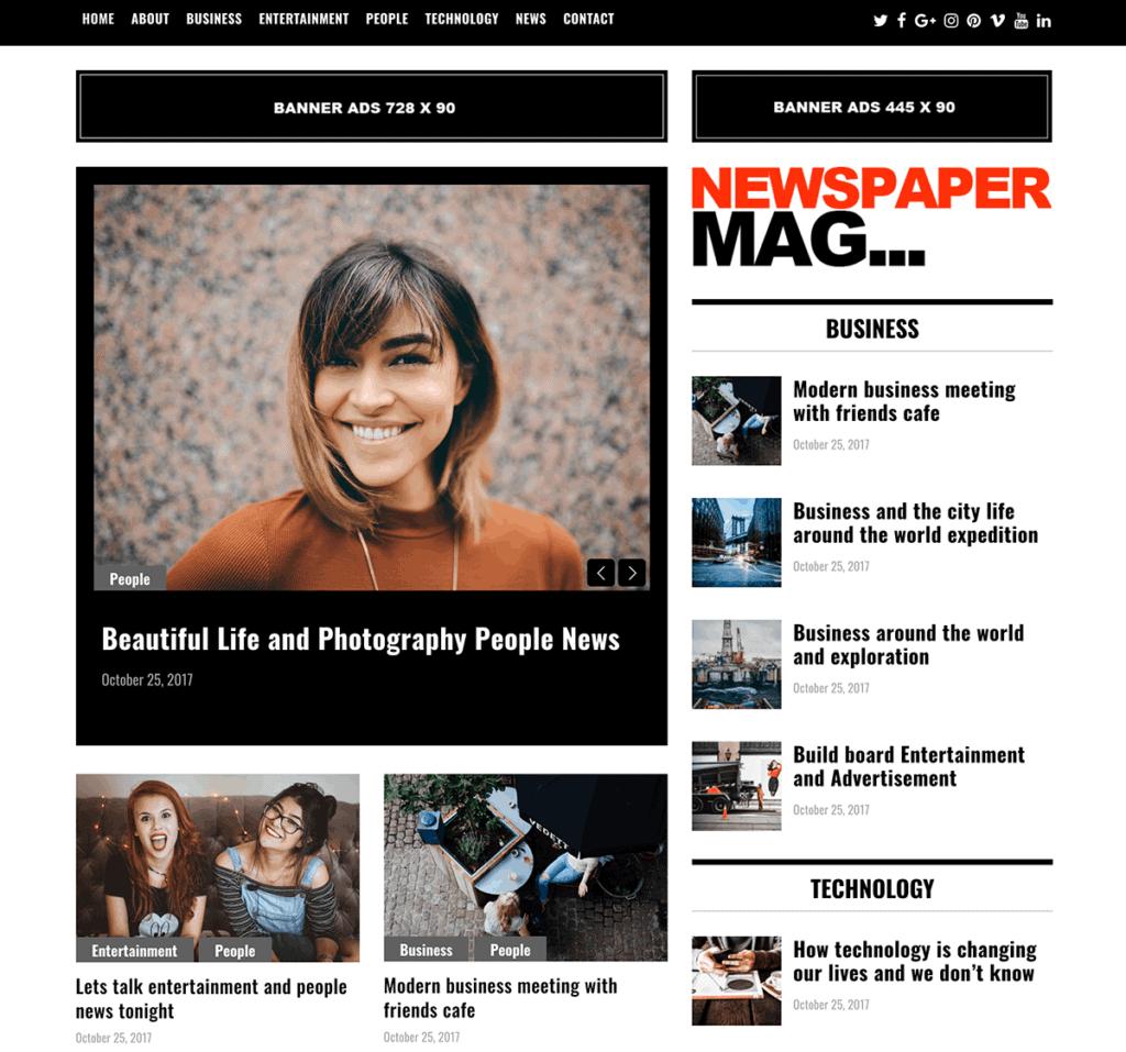 newspaper mag theme