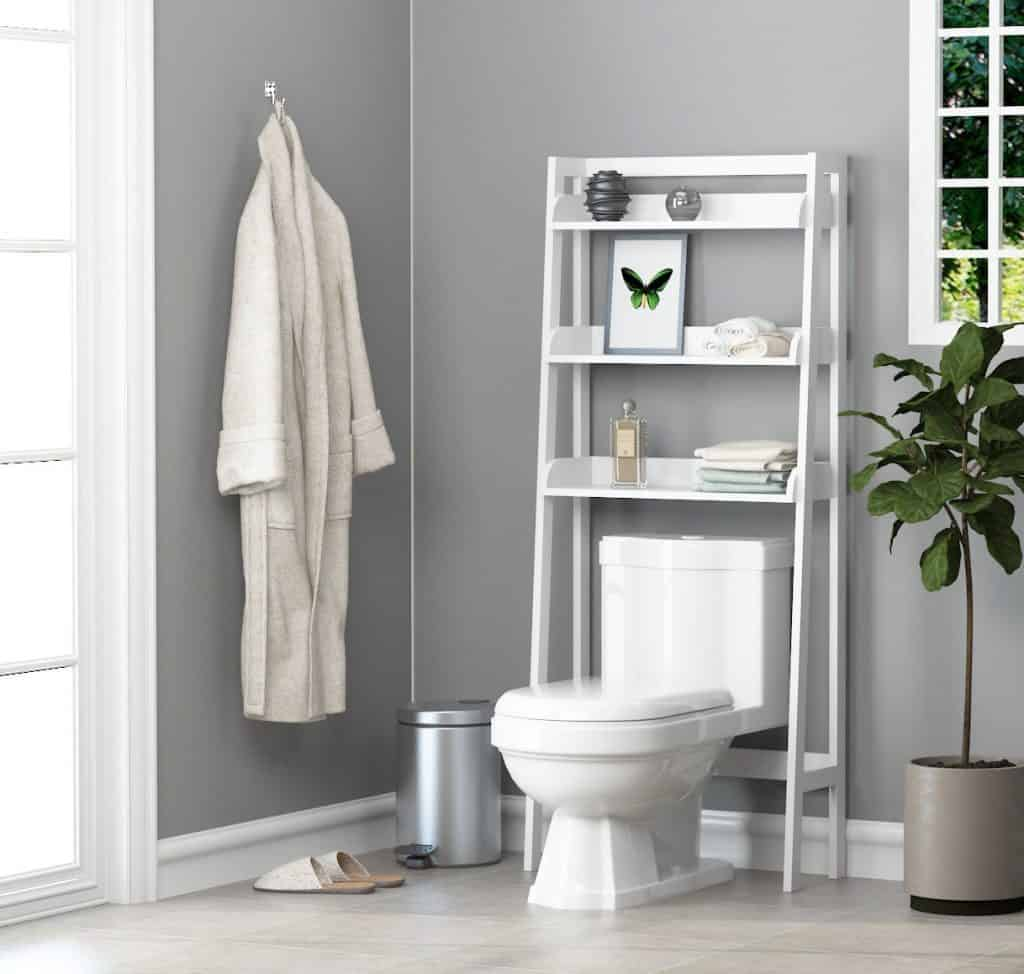 Over-the-Commode Ladder Ideas/Bathroom Shelf Combination