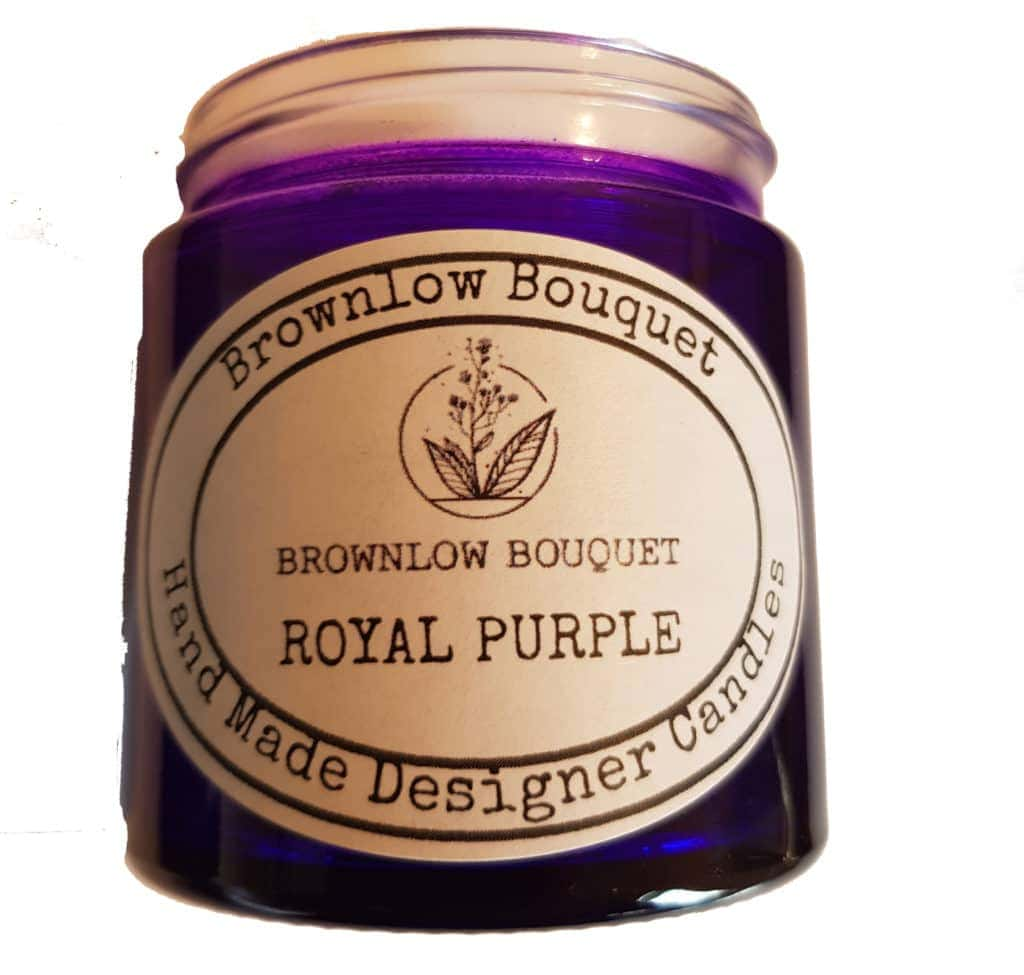 Custom Colour Translucent Gloss Royal Purple Jar with Label