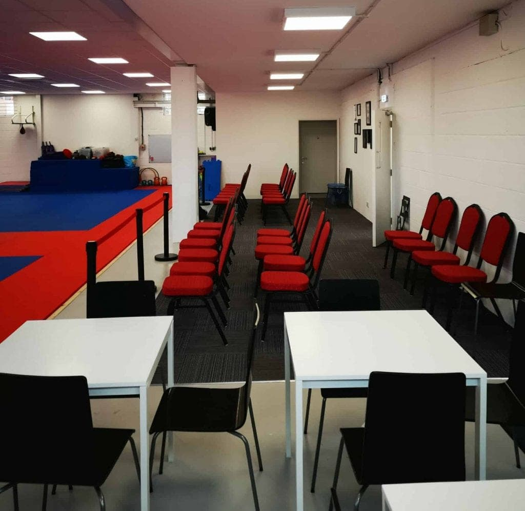 Parents at our Martial Arts classes in Basingstoke can sit and relax whilst enjoying a snack and a hot drink, whilst their children practice their Martial Arts