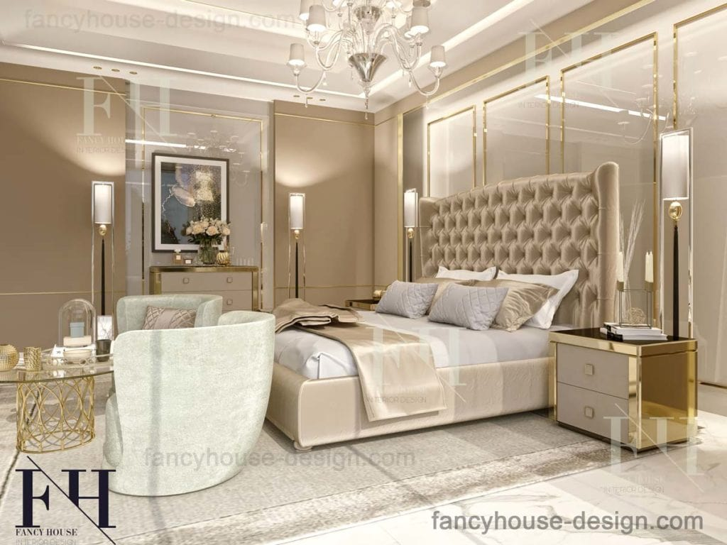 Beautiful master room internal decoration solution by Fancy house in Dubai.