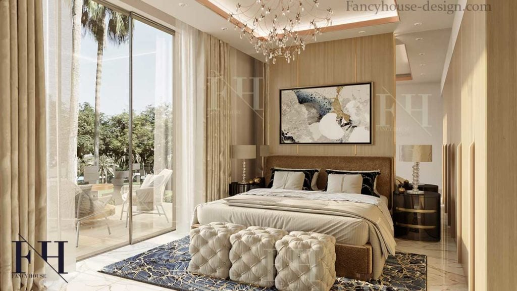 modern house bedchamber inside decorating