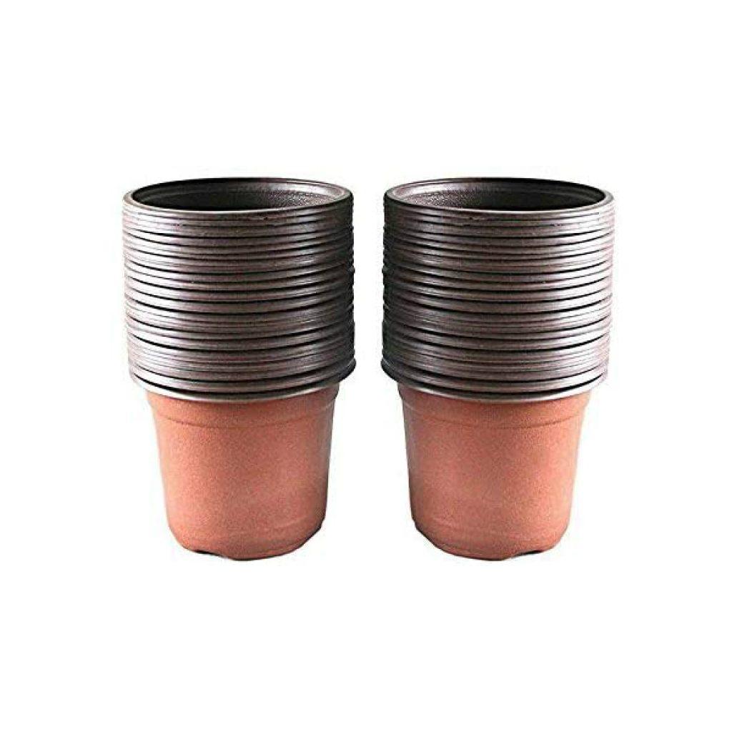 KINGLAKE-100-Pcs-4-Plastic-Plants-Nursery-Pot-Pots-Seedlings-Flower-Plant-Container-Seed-Starting-Pots