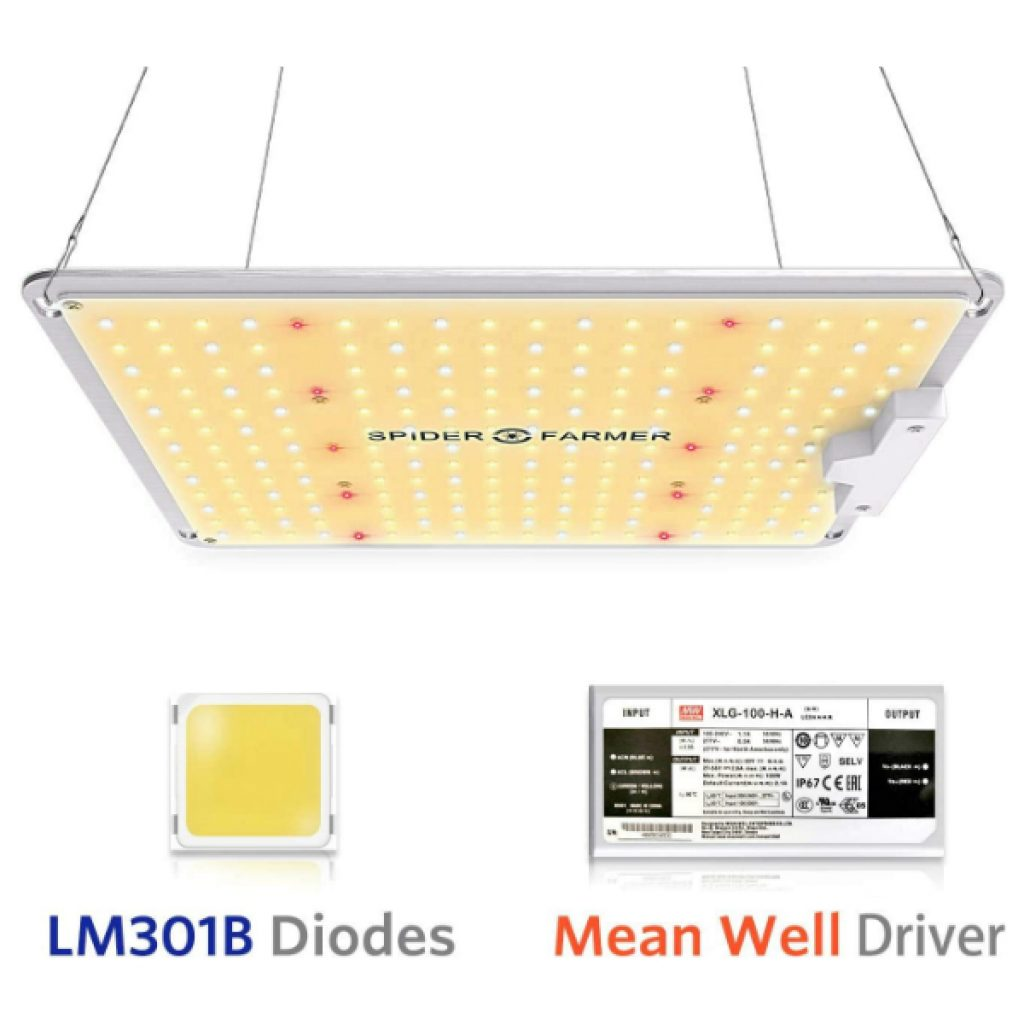 Spider-Farmer-SF-1000-LED-Grow-Light-with-LM301B-Diodes-Dimmable-MeanWell-Driver-Sunlike-Full-Spectrum-Plants-Lights-for-Indoor-Veg-and-Flower-Growing-Lamp