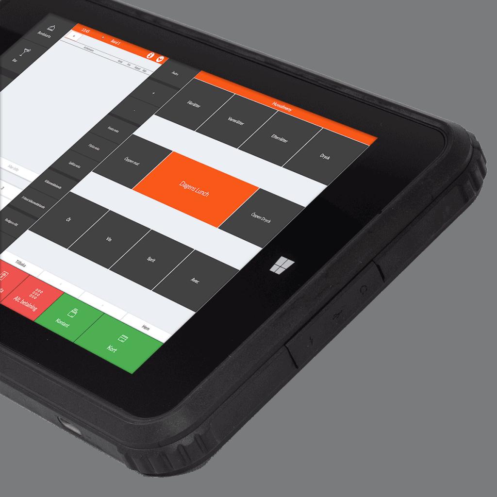 Ancon G2 Tablet -Bild på kassasystem för restauranger