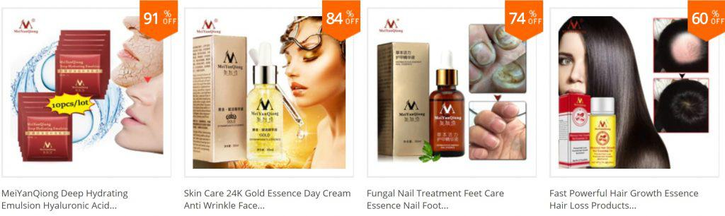 AliExpress Beauty Product Skincare Trusted Cheap Wholesale Price Safe Serum Handcream China Cosmetics MeiYanQiong